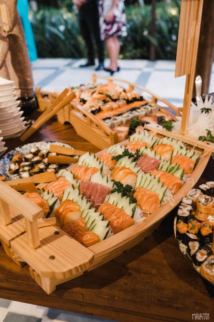sashimis buffet japonês para casamentos
