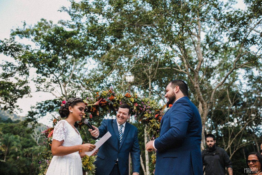 casamento ao ar livre cerimônia