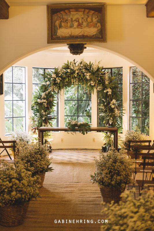 cerimônia de casamento em casa na sala