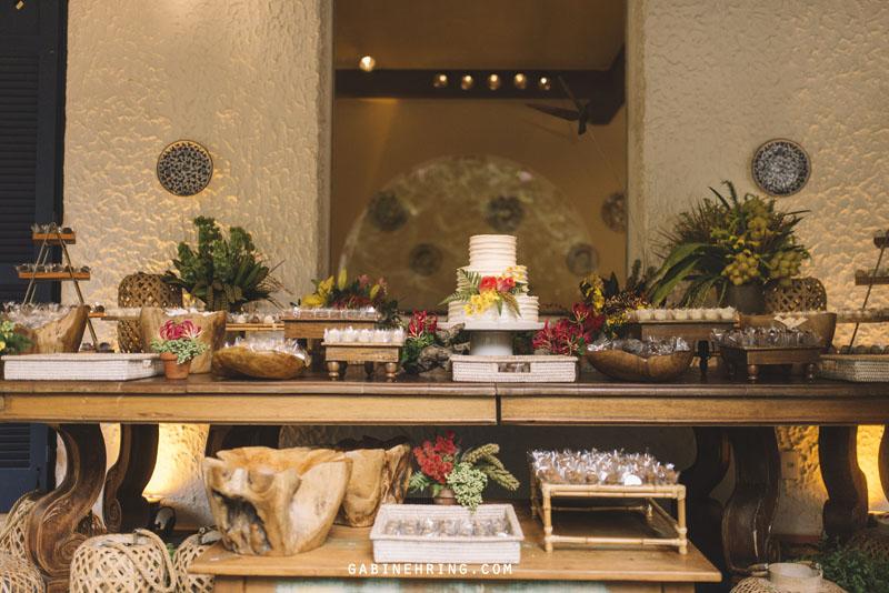 mesa de doces casamento em casa rústico