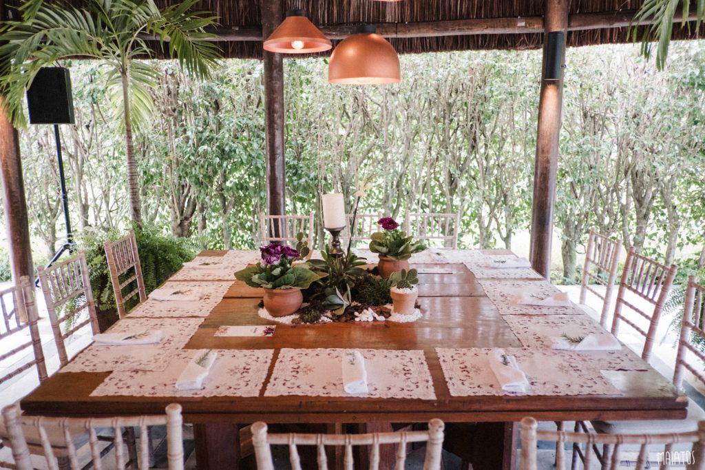mesa de convidados casamento ao ar livre
