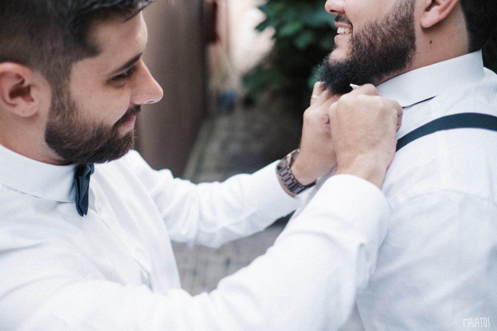 casamento ao ar livre noivo