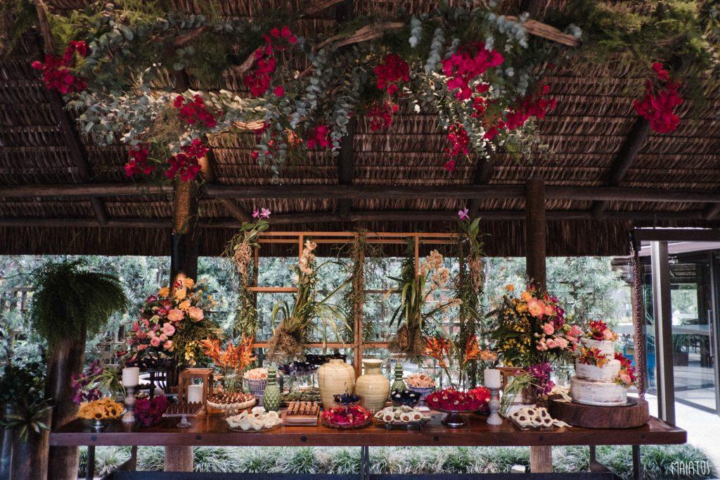 mesa de doces casamento lajedo